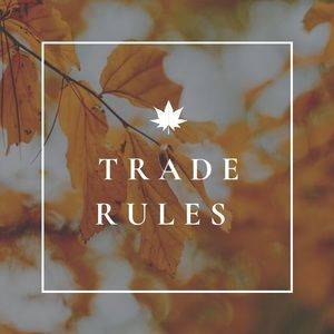 TRADE RULES!💗🚨❤️💗🚨❤️